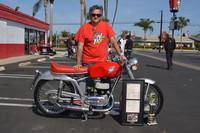 Roland Ortiz with his 1953 MV Agusta Supersport 125