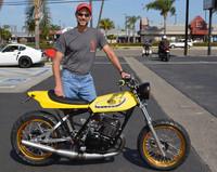 Tony Barrett with his 1978 Yamaha DT400