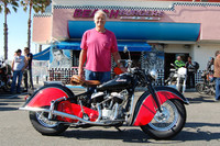 Jim Underwood and his 1948 Indian Chief