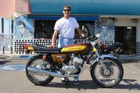 Mike Theile and his 1975 Kawasaki 500 H1