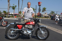 Marty Spalding of Dana Point with his 1968 Norton/Matchless P11
