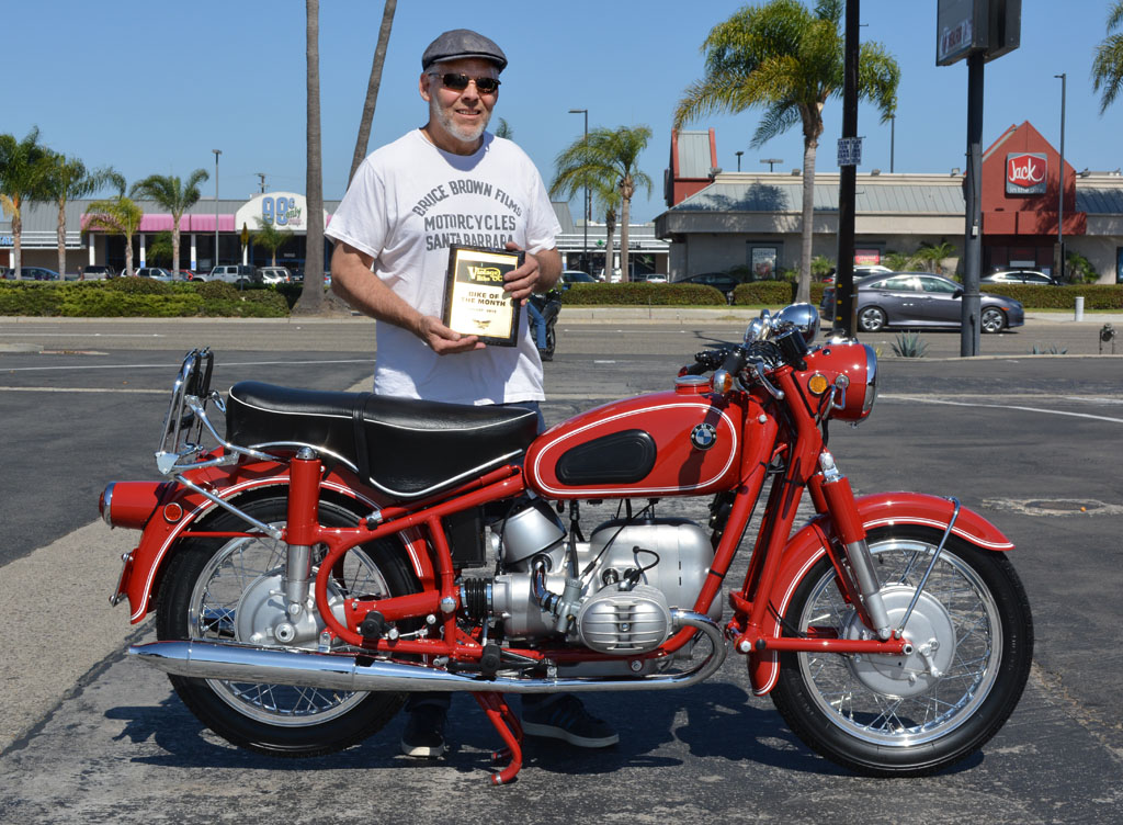 Ken Morris with his 1968 BMW R60/2