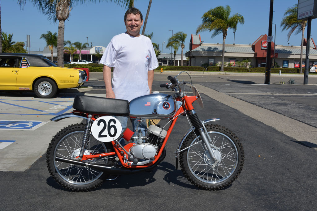Kevin Blaty and his 1964 Hodaka Ace 90