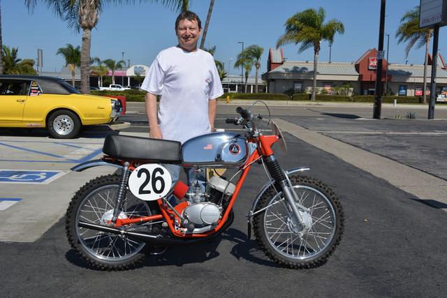 Kevin Blaty with his 1964 Hodaka Ace 90