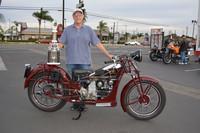 Bill Perrone with his 1934 Moto Guzzi GT16