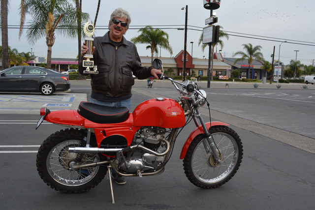 Bruce Fickling with his 1974 Rickman Metisse