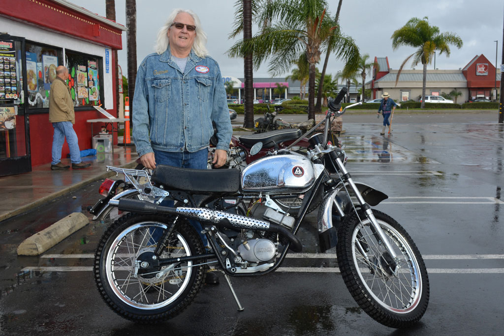 Rich Romano of Yorba Linda with his 1972 Hodaka Model 94 Wombat