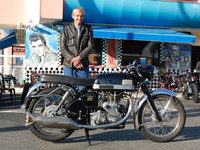 Mike Jongblood and his 1963 Velocette Venom Clubman
