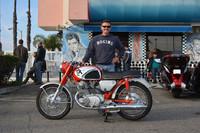 Gerald Prendergast and his 1966 Honda Superhawk 305