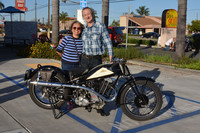 Eugene Garcin & Mary Wong with their 1934 Cotton 500cc 25J