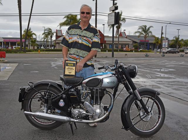 Jeff McCoy with his 1950 Norton ES2