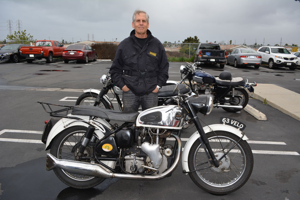 Larry Luce with his 1961 Velocette MSS