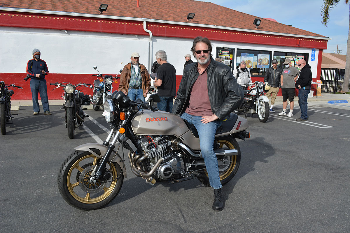 Tom Kimberly of Mission Viejo with his 1982 Suzuki GS1100E Turbo