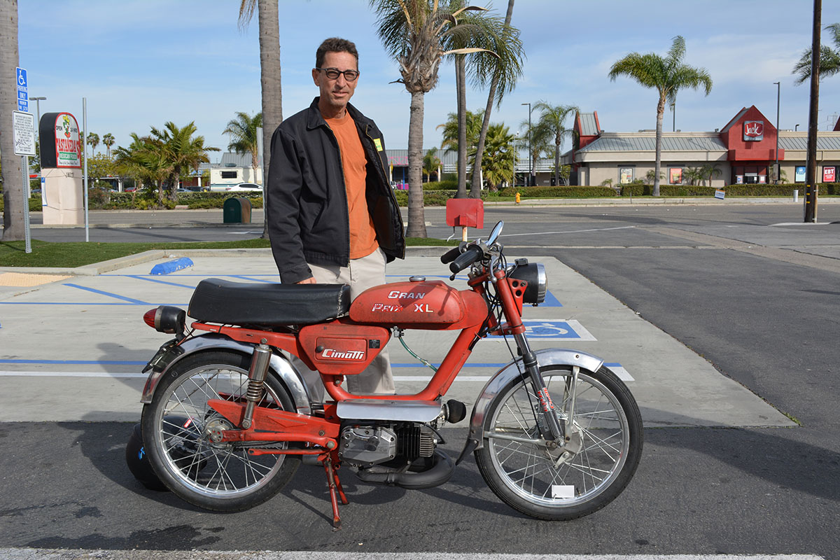 Baird Bergenthal of Midway City with his 1978 Cimatti