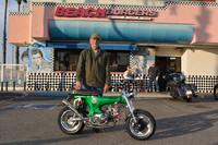 Ken Crites with his 1970 Honda CT70 custom