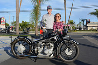 Eugene Garcin & Mary Wong with their 1929 BMW R63