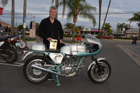 Mark Abrahams with his 1974 Ducati 750 Super Sport