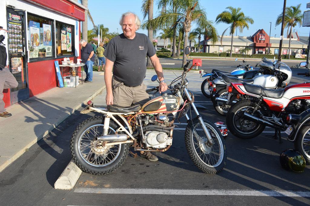 Dan Wensloff and his 1964 Triumph Cub