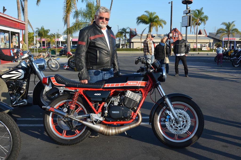 Gordon Patton and his 1976 Yamaha RD400