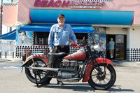 Steve Mitzner and his 1938 Indian 4