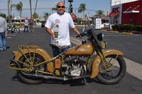 Rich Hutchins with his 1930 Harley Davidson VL