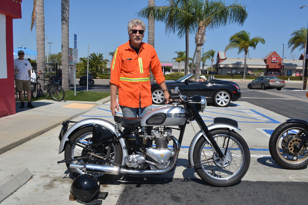 Nick Menke and his 1951 Triumph T-100 Tiger