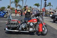 Randi Coddington of Huntington Beach with her 1965 Harley Davidson FLH Electra Glide