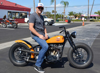 Marcus Davin and his 1934 Harley Davidson VLD