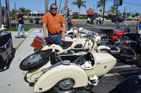 Robert Beaver and his 1966 BMW R60/2 with TR500 Sidecar