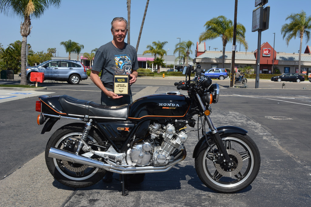 Rick Haas with his 1980 Honda CBX