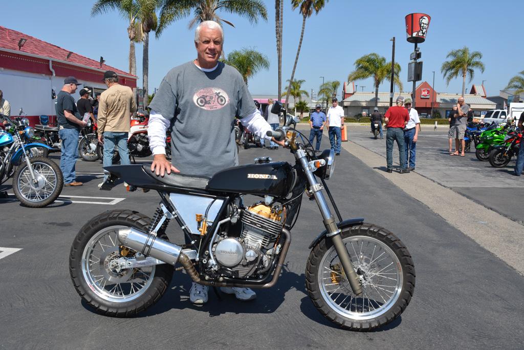 Bob Decker with his 1987 Honda SR600 Custom