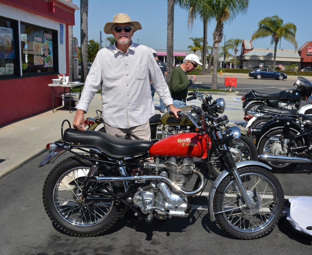 Scott Daniels with his 1953 Royal Enfield