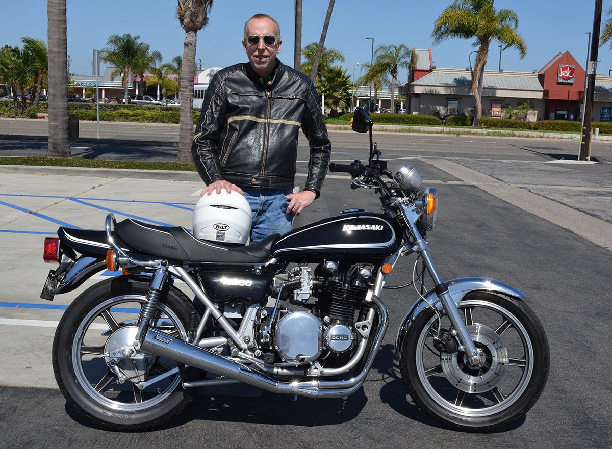 John Maynard of Anaheim with his 1976 Kawasaki KZ900