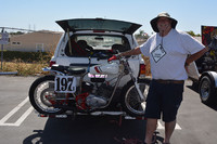 Mike Fritz of Garden Grove with his 1972 Yamaha Trackmaster