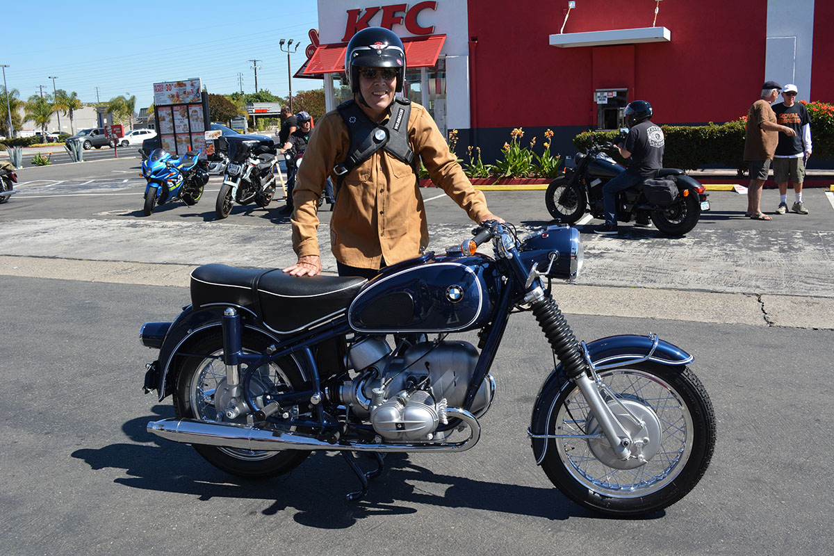 Ken Morris of Upland with his 1968 BMW R69US