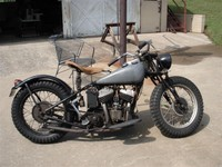 """Mike Dunn's 1939 Indian """"before"""" picture"""