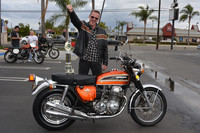 Ted Hannegan with his 1973 Honda CB750 four