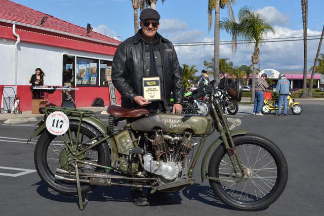 Todd Cameron and his 1916 Harley Davidson JD