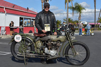 Todd Cameron and his 1916 Harley Davidson JD
