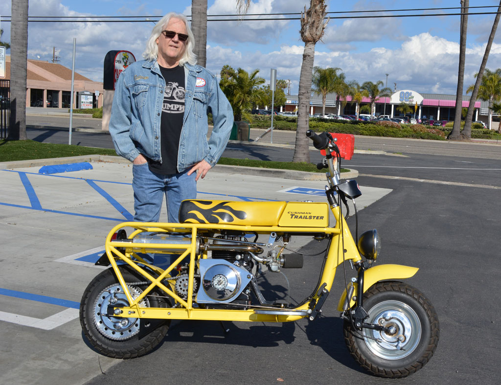 Rich Romano and his 1963 Cushman Trailster