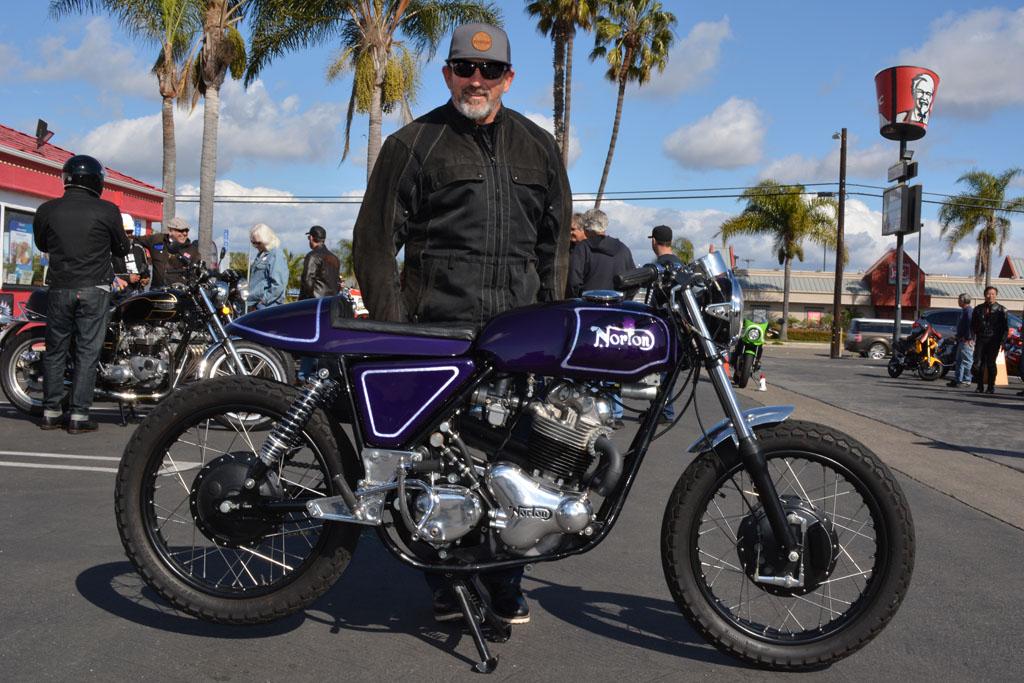Vince Driscoll and his 1970 Norton Commando 750