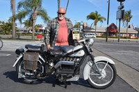 Gerry Hoadley of Garden Grove with his 1949 Nimbus Model C