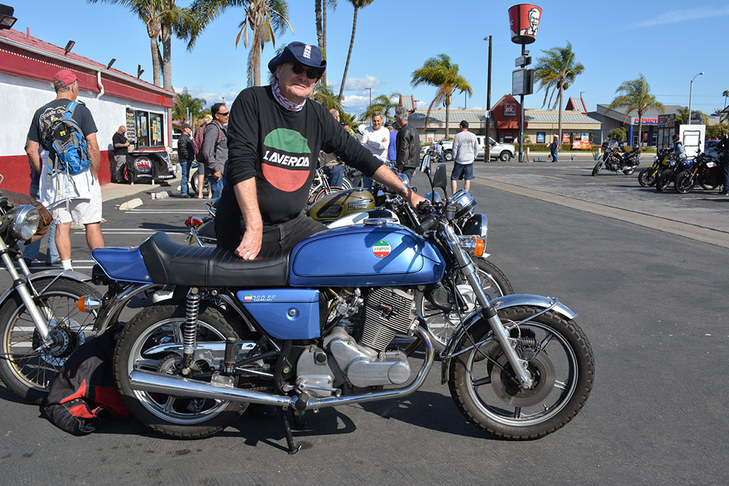 Mark Compton of Los Alamitos with his 1976 Laverda SF3