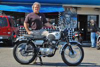 Steve Davenport and his 1963 Honda CL72