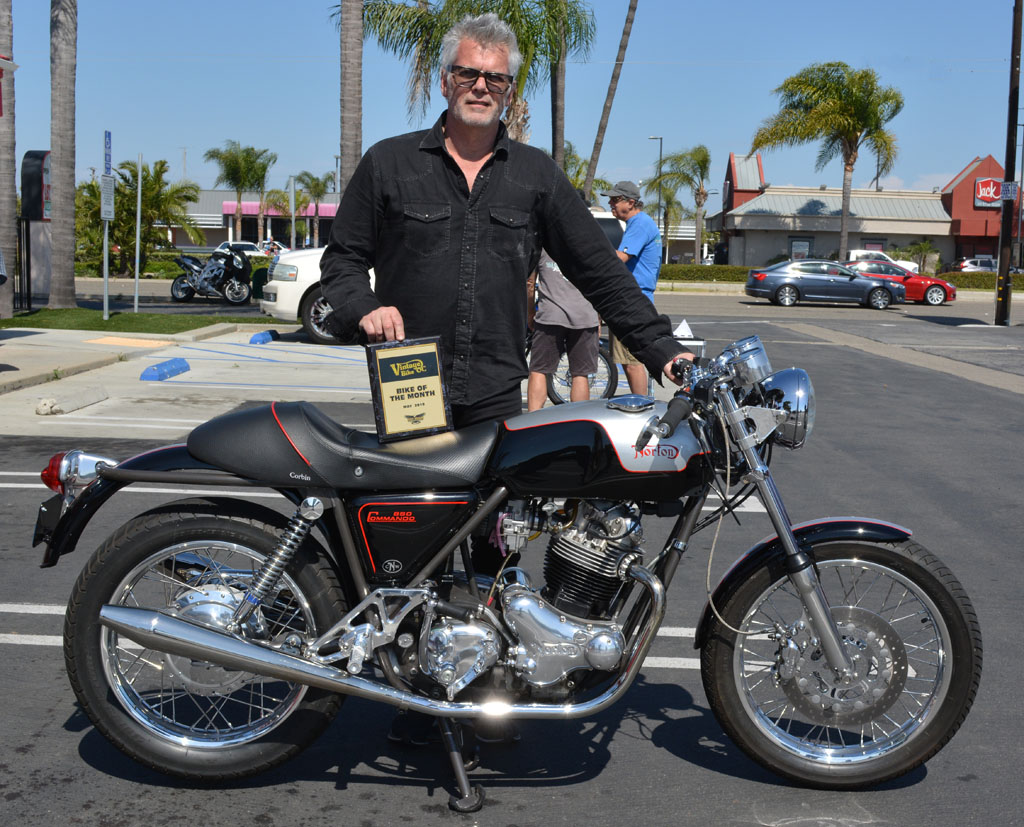 Mark Abrahams with his 1975 Norton 850 Commando Mark III