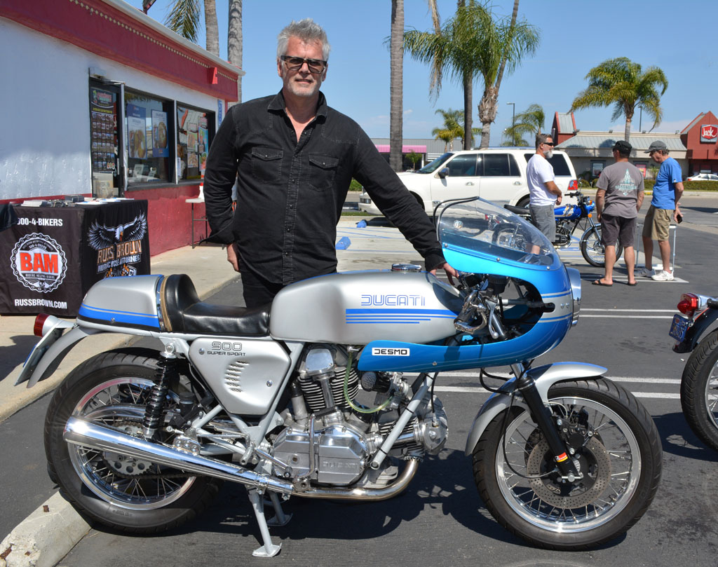 Mark Abrahams with his 1977 Ducati 900 Super Sport