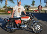 Dave Zamiska with his 1972 BSA Lightning 650
