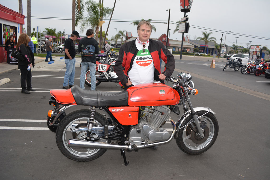 Mark Compton and his 1976 Laverda 750 SF3
