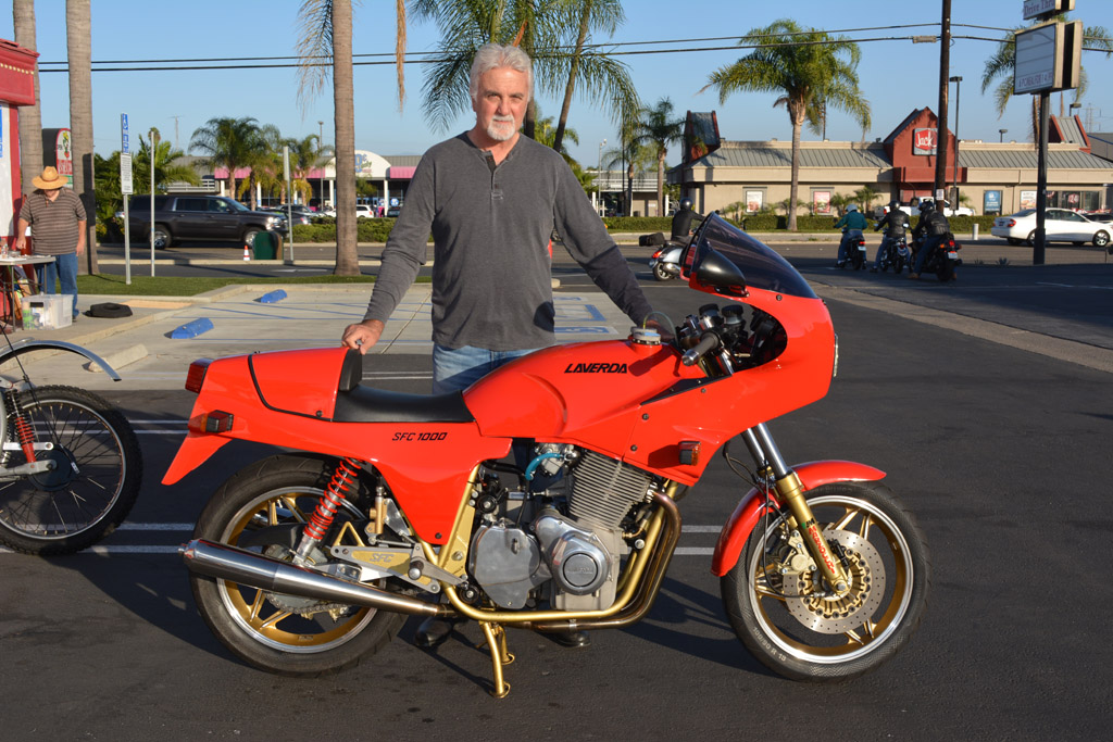 Ernesto Quiroga and his 1988 Laverda SFC 1000