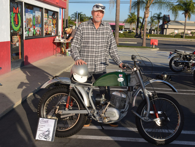 Scott Daniels and his 1965 Greeves Anglian